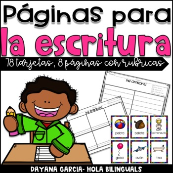 Writing templates with rubrics- SPANISH