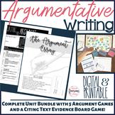 Argument Writing Unit Bundle with Argument Games