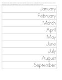 Writing the Date: Montessori Comma & Capitalization Practice