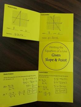 Writing the Equation of Line Foldable