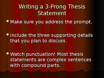 Writing the Five Paragraph Essay: Persuasive (PPT Presentation)