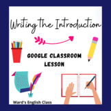 Writing the Introduction Lesson