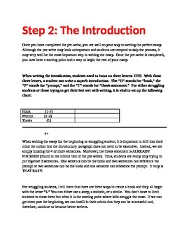 Writing the Introduction of Your Essay