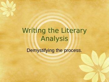 Writing the Literary Analysis