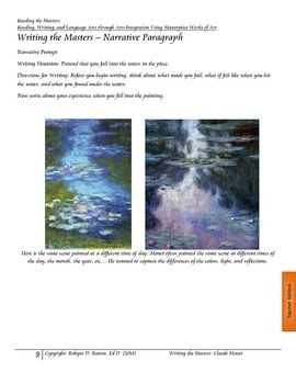 Writing the Masters with Claude Monet
