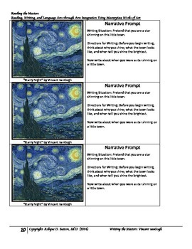 Writing the Masters with Vincent vanGogh