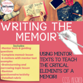Memoir Writing - Complete Unit with Stations and Mentor Texts