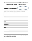 Writing the Perfect Paragraph Graphic Organizer