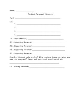 Writing the Perfect Paragraph Orton Gillingham