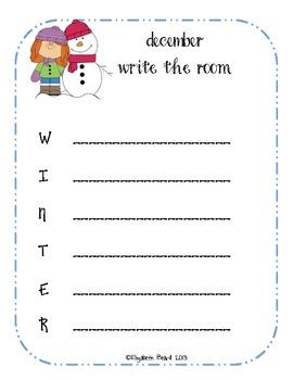 Writing the Room Work on Writing Printables