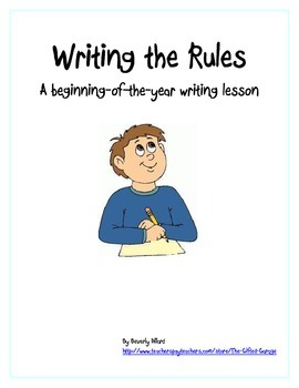 Writing the Rules