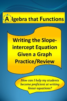 Writing the Slope-intercept form of the Equation from Grap