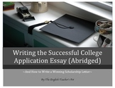 Writing the Successful College Application Essay eBook (ABRIDGED)