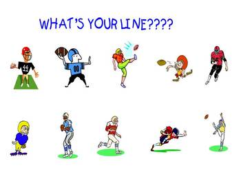 Writing the equation of a line football power point game