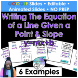 Writing the equation of a line given a point & a slope For
