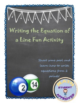 Writing the Equation of a Line Given Two Points FUN ACTIVITY