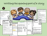Writing the opening part of a story
