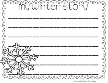 Write This & Draw That! {Winter story starters with topic cards & printables}