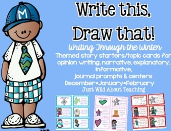 Write This & Draw That! {Winter story starters with topic