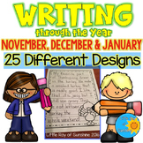 Writing Paper November December January