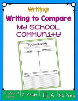 Writing to Compare: How is School Like a Community?