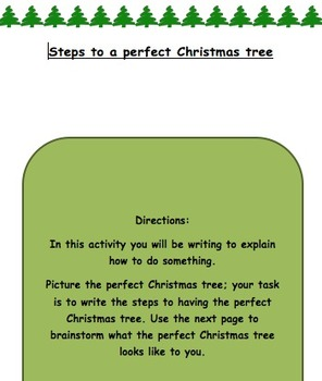 Writing to Explain- A Christmas tree way