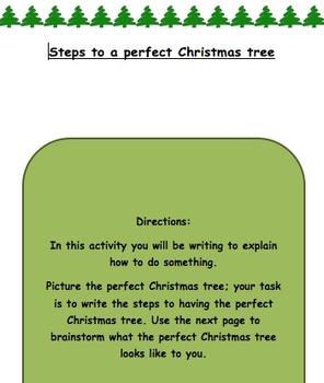 Writing to Explain- A Christmas tree way