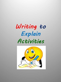 Writing to Explain Activities