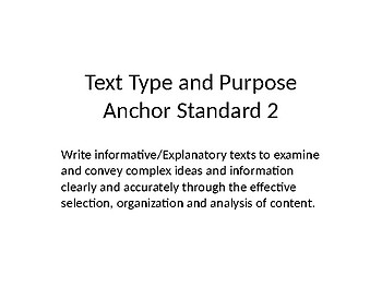 Writing to Explain and Inform (Text Type and Purpose)