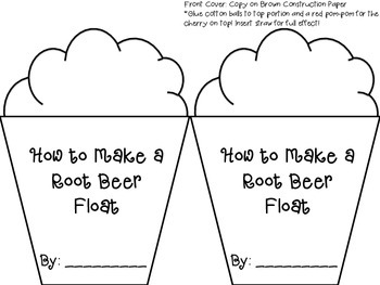 Writing to Inform: How to Make a Root Beer Float (Freebie in the Preview!)