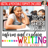 Writing to Inform and Explain Unit (Vol. 1) - Distance Learning