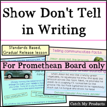 Show Don't Tell Writing for PROMETHEAN Board