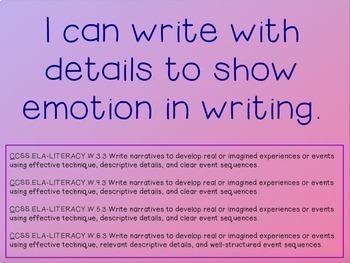 Writing Process : Show Not Tell - Instruction to Improve Writing in Power Point