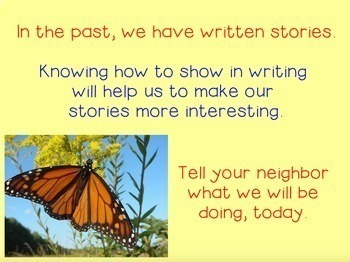 Show Don't Tell in Writing