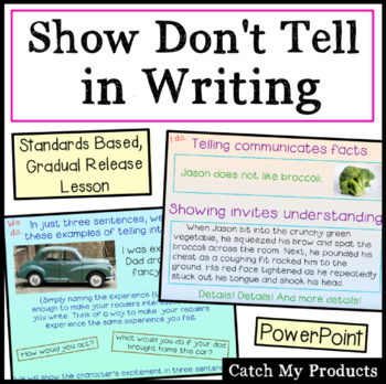 Writing Process : Show Not Tell - Instruction to Improve W