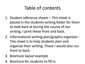 Writing to inform - Make a brochure