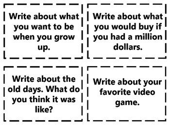 Writing topics