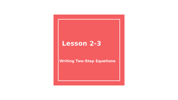 Writing two-step equations