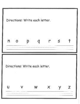 Writing upper and lowercase letter book
