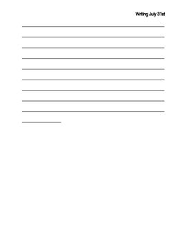 Writing using descriptive words