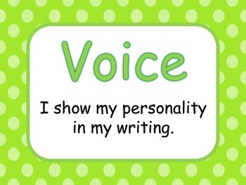 Writing with 6 +1 Traits using the VOICEs Bulletin Board