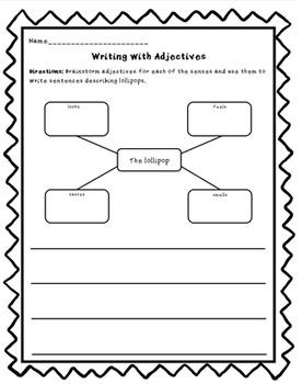 Writing with Adjectives EDITABLE