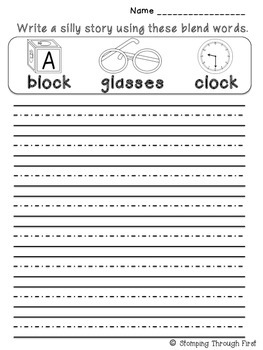 Writing with Blends: A phonics writing FREEBIE
