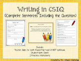 Writing with CSIQ: Complete Sentences Including the Question