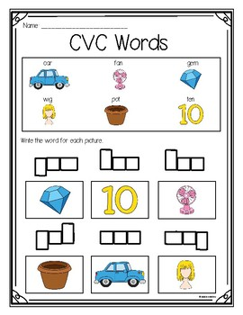 Writing with CVC Words