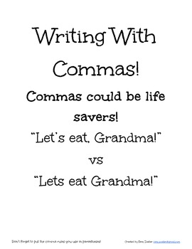 Writing with Commas