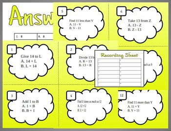 Writing with Expressions Task Cards