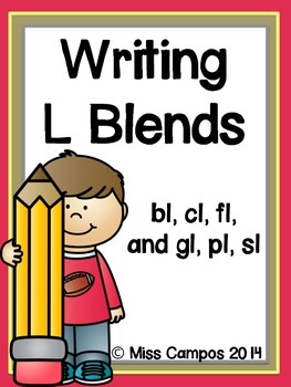 Writing with L Blends: 6 Little Writers' Readers