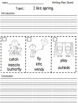 Writing with Picture Clues - Seasons