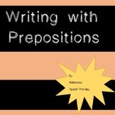 Writing with Prepositions FREEBIE {Worksheets}